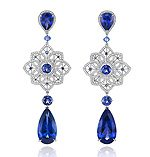 Choppard sapphire and diamond earrings