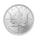 1oz Platinum Canadian Maple Leaf Coin