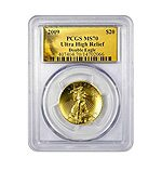PCGS MS70 ULTRA HIGH RELIEF DOUBLE EAGLE GOLD COIN