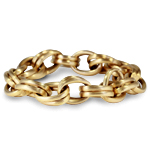 18K Yellow Gold Chain Bracelet